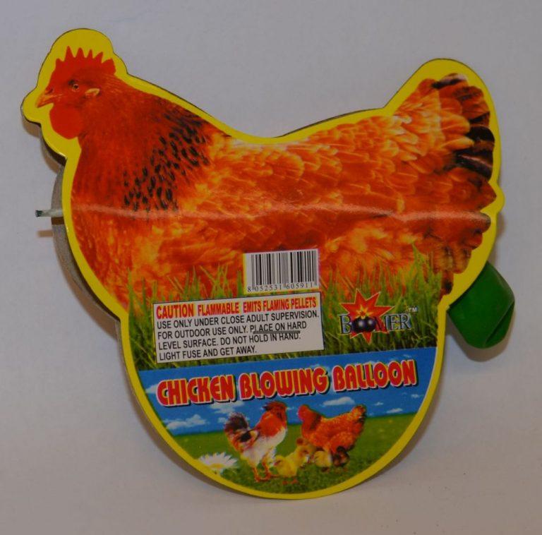 Novelty Fireworks – Chicken Blowing Balloon (1)