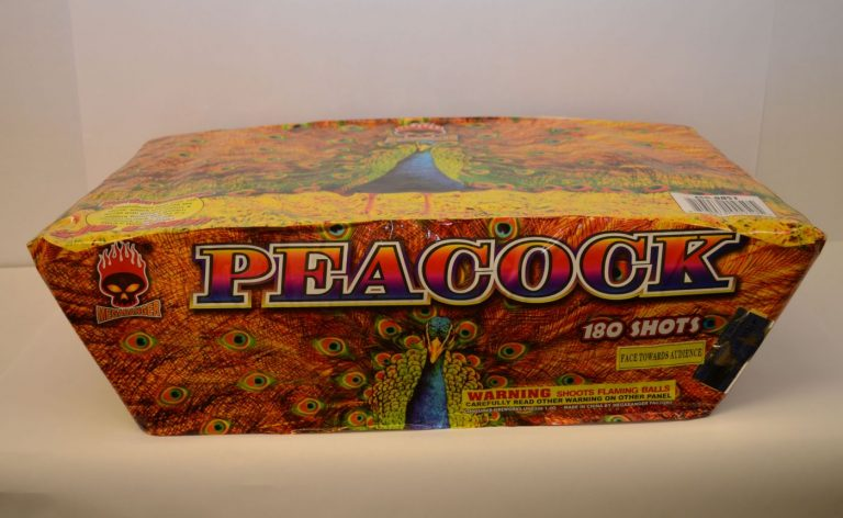 500 Gram Finale Cake – Peacock 1